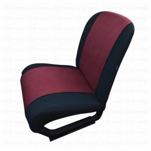 Front and rear seat covers bordeaux for fiat 500 vintage