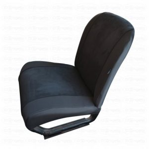 Front and rear seat covers in black for fiat 500 vintage