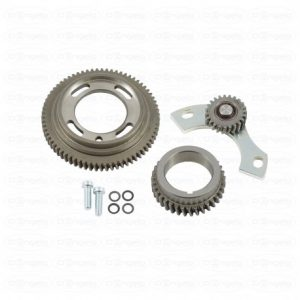 Gear distribution kit, with tensioner for fiat 500 flr and 126