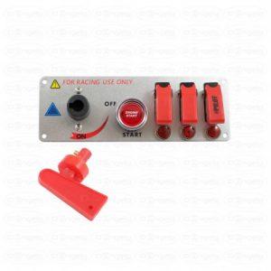 Aluminum start panel with 12v switches - 192 x 67 cm