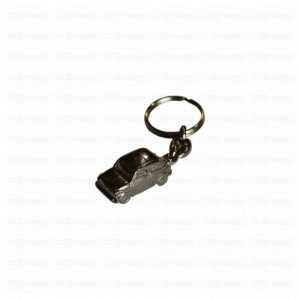 Chromed metal key rings fiat 500