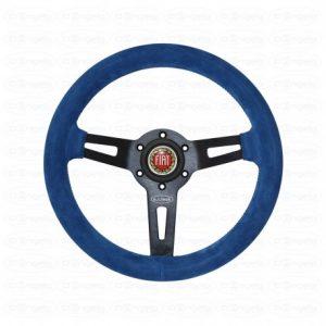 Volant a.i.tech en daim blue avec rayon noir anodise d.310mm/ 12, 3