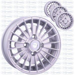 Serie cerchi in lega modello grifo finitura grigio diamantato 4,5x12 attacco 4x98
