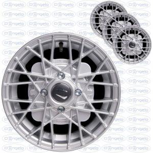 Serie cerchi in lega modello ray finitura grigio diamantato4,5x12 attacco 4x98