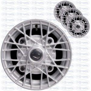 Serie cerchi in lega modello ray finitura grigio diamantato 4,5x12 attacco 4x190