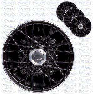Serie cerchi in lega modello ray finitura nero diamantato 4,5x12 attacco 4x190