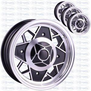 Cerchi in lega modello mille miglia finitura nero diamantato attacco 4x190