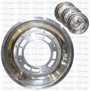 Serie cerchi in acciaio lucidato a specchio scomponibili 5x12 attacco 4x190