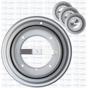 Serie cerchi in ferro tipo originali finitura silver 3,5x12 attacco 4x190