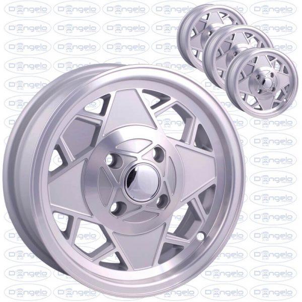 Cerchi in lega modello mille miglia finitura grigio diamantato attacco 4x98