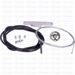 Double body carburetor accelerator cable kit with roller