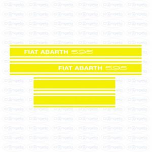 Kit side strips abarth 595 yellow fiat 500 flr