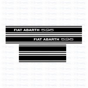 Kit side strips abarth 595 black fiat 500 flr