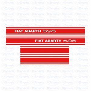 Kit side strips abarth 595 red fiat 500 flr