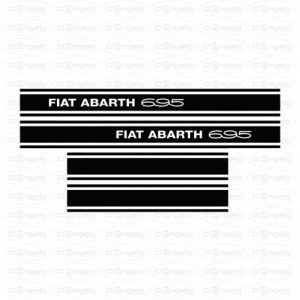 Kit side strips abarth 695 black fiat 500 flr
