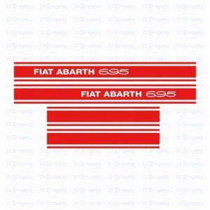 Kit side strips abarth 695 red fiat 500 flr