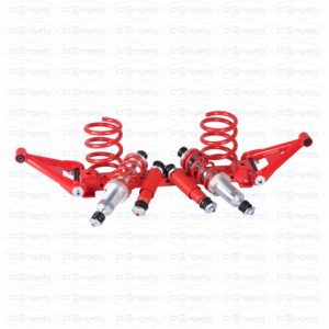 Complete kit shock absorbers  front and rear absorbers with independent suspension and springs h 19 for fiat 500 f-l-r e 126