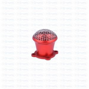 Tromboncino for carburetor dell'orto fzd with red anodized filter protection
