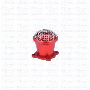 Tromboncino pour carburateur dell'orto fzd avec protection de filtre anodisé rouge