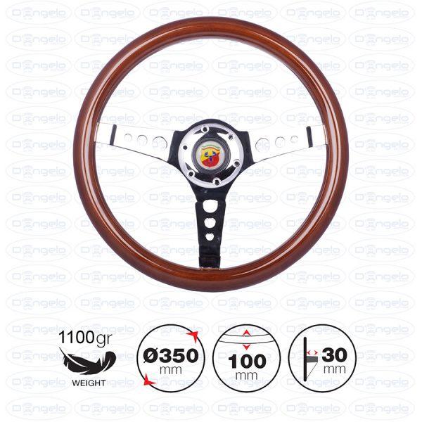 volante arnoux legno