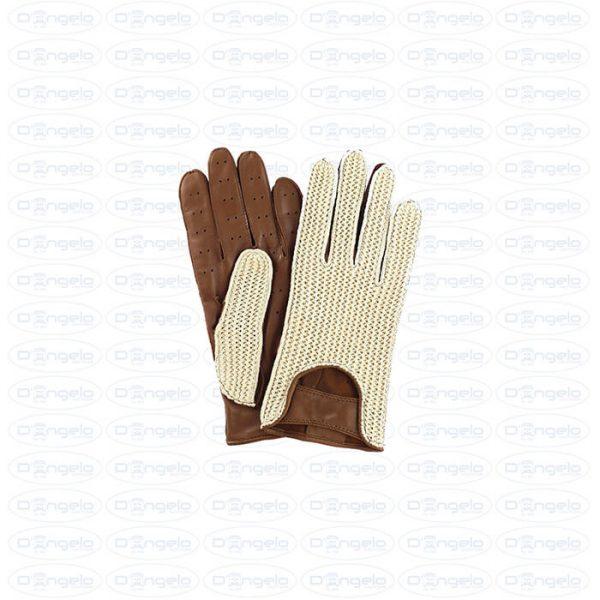 guanti vintage marrone