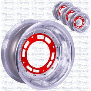 cerchi scomponibili 4x190 rosso