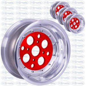 cerchi scomponibili 4x98 rosso