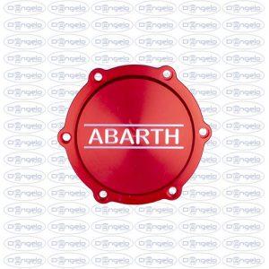 coperchio puleggia rosso anodizzato scritta abarth