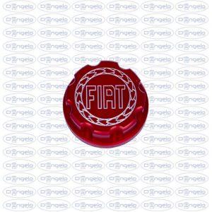 tappo rosso anodizzato logo fiat